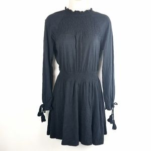 Topshop High Collar Long Sleeve Dress Size 4